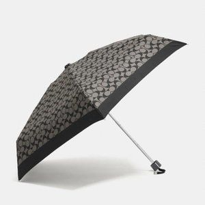 $68 *NEW* COACH Black Signature Mini Umbrella